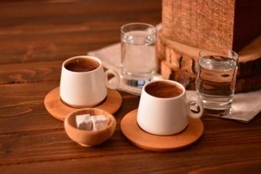 Bambum Ottoman 2 Kişilik Kahve Takımı Sade Renkli